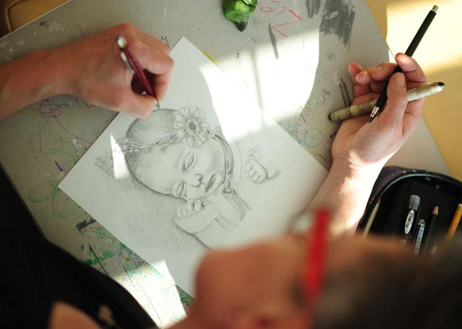 Auftrag Baby Portrait